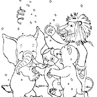 golden book stories party coloring page