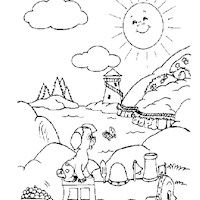golden book stories sunny coloring page
