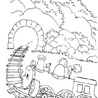 golden book tootle train coloring page