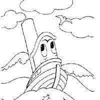golden book tug boat coloring page