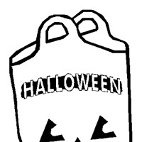 candy bag coloring page