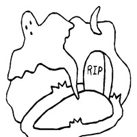 grave yard coloring page