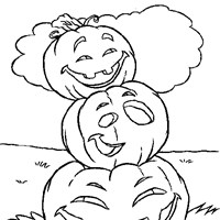 halloween pumpkin stack coloring page