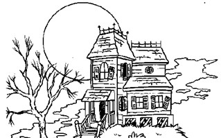 haunted house coloring page coloring page