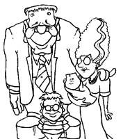monster family coloring page