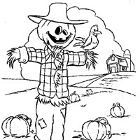 scarecrow coloring coloring page