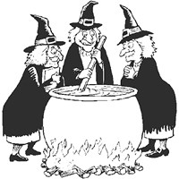 witch calldren coloring page coloring page