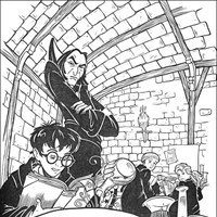 harry potter 1 coloring page