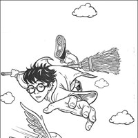 harry potter 9 coloring page
