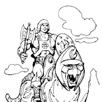 he man cat coloring page