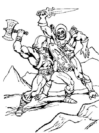 he man coloring pages He Man Coloring Page   he man fighting skeletor | All Kids Network he man coloring pages