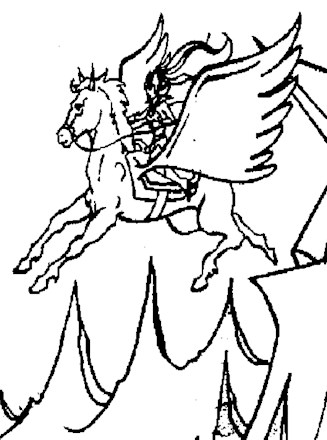 He Man Coloring Page He Man Flying Horse All Kids Network