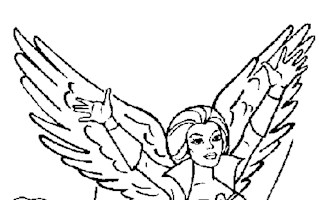 he man lady with wings coloring page