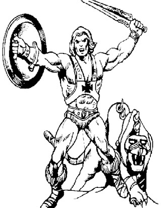 he man with sword coloring page