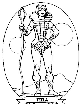 teela coloring page