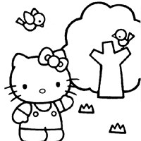 color hello kitty coloring page