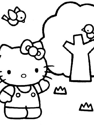 Hello Kitty Coloring Page Color Hello Kitty All Kids Network