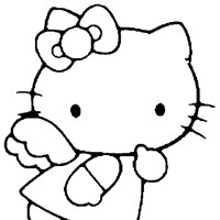 hello kitty color coloring page
