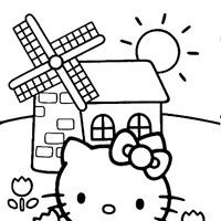 hello kitty coloring page coloring page
