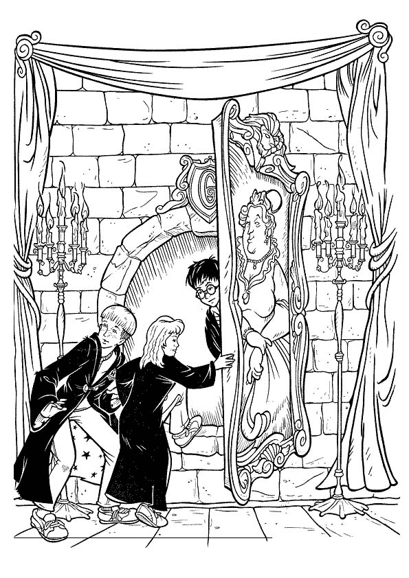 harry potter 17 coloring page