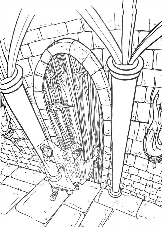 harry potter 2 coloring page