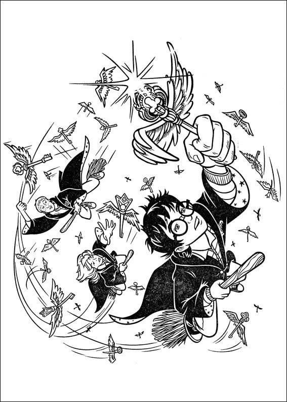harry potter 4 coloring page
