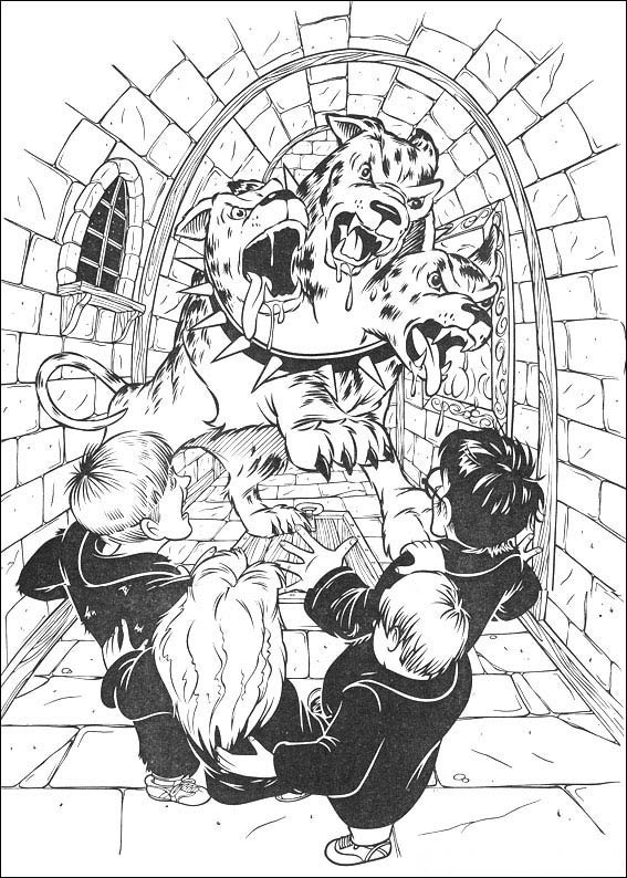 harry potter 7 coloring page