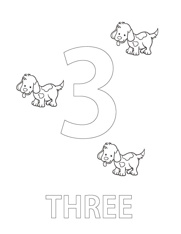 number three coloring page coloring page