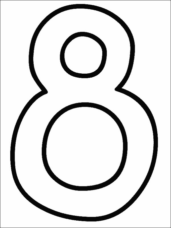 Numbers Coloring Page - numbers 10 | All Kids Network