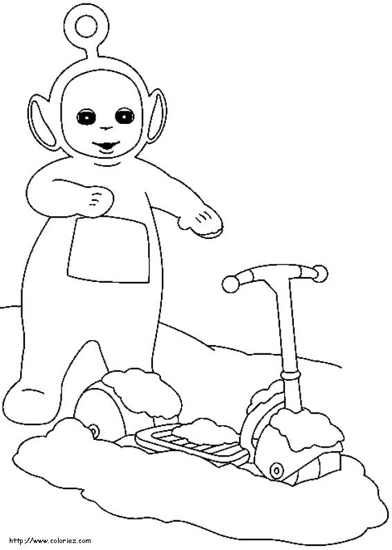 po in snow coloring page