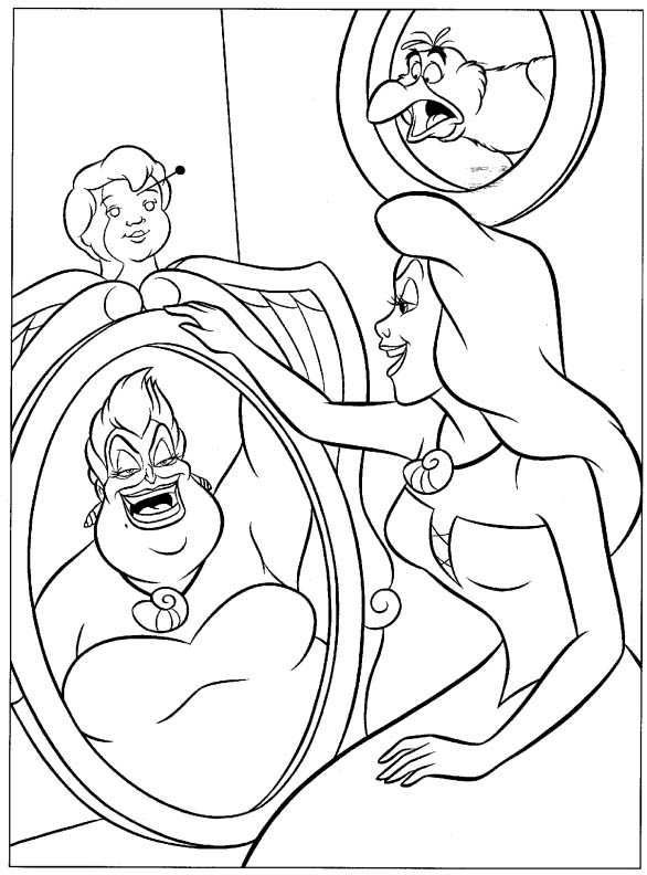 little mermaid 8 coloring page