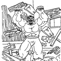 hulk breaking coloring page