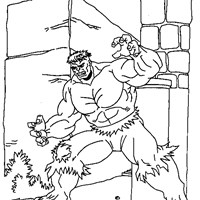 incredible hulk muscles coloring page
