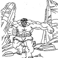 incredible hulk running coloring page