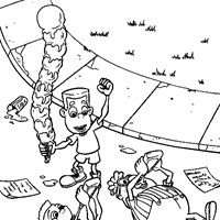 jimmy neutron coloring page