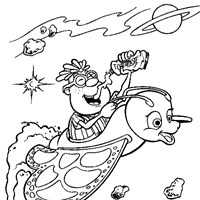 neutron in space coloring page