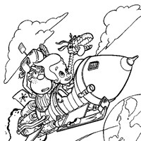 space jimmy neutron coloring page