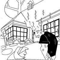 johnny bravo tired coloring page