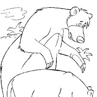 jungle book bear coloring page