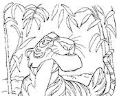 jungle book lion coloring page