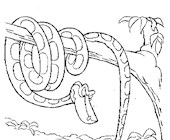 jungle book snake coloring page