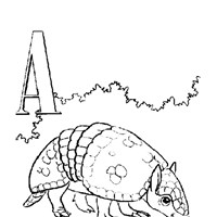 color alphabet a coloring page