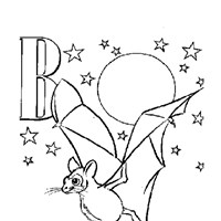 color alphabet b coloring page
