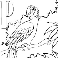 color alphabet p coloring page