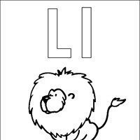 coloring letter l coloring page