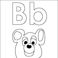 coloring letters b coloring page