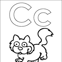 coloring letters c coloring page