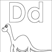 coloring letters d coloring page