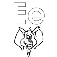 coloring letters e coloring page