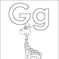 coloring letters g coloring page